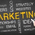 Marketing Chalk Drawing — Stock Photo #26005393