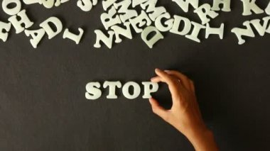 остановить издевательства — Стоковое видео