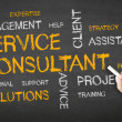 Service Consultant Chalk Illustration — Stock Photo #27175311