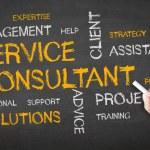 Service Consultant Chalk Illustration — Stock Photo