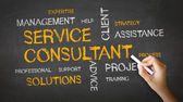 Service Consultant Chalk Illustration — Fotografia Stock