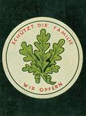 Vintage german cigarette card — Stock Photo