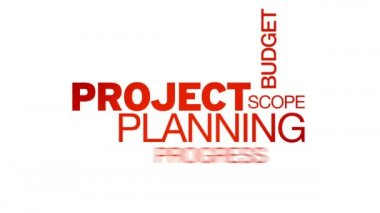 Project Planning Word Cloud Animation — Stock Video