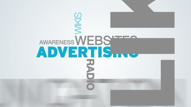 Animation de publicité mot nuage — Vidéo