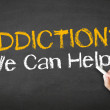 Addiction We can Help Chalk Illustration — Stock Photo #28083497