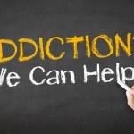 Addiction We can Help Chalk Illustration — Stock Photo