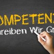 Competence Slogan (In German) — Stockfoto