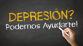 Depression we can help (In Spanish) — Stock Photo
