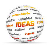 Ideas Sphere (In Spanish) — Stock Photo