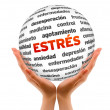 Stress Word Sphere (In Spanish) — Stock Photo