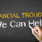 illustration de craie de difficultés financières — Photo