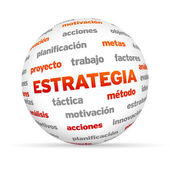 Strategy Word Sphere (In Spanish) — Stock Photo