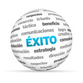 Success Word Sphere (In Spanish) — Stock Photo