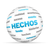 Facts Word Sphere (In Spanish) — Stock Photo