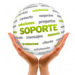 Support Word Sphere (In Spanish) — Stock Photo #28880243