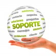 Support Word Sphere (In Spanish) — Stock Photo #28880245