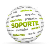 Support Word Sphere (In Spanish) — Stock Photo