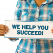 We Help You Succeed — Stockfoto
