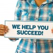 We Help You Succeed — Stock Photo