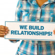 We Build Realationships — Stock Photo