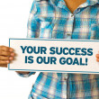 Stock Photo: Your Success is our Goal