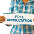 Free Consultation — Stock Photo