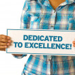 Foto de Stock  : Dedicated To Excellence