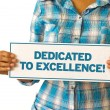 Dedicated To Excellence — Stock Photo