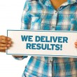 We Deliver Results — Lizenzfreies Foto
