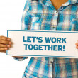Stock Photo: Lets Work Together