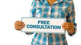 Free Consultation — Fotografia Stock