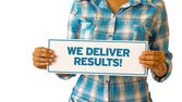 We Deliver Results — 图库照片