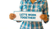 Lets Work Together — Stock Photo