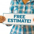 Free Estimate — Stock Photo