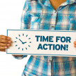 Foto de Stock  : Time For Action