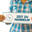 Time For Action (In German) — Zdjęcie stockowe