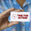 Time For Action — 图库照片