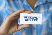 We Deliver Results — Foto Stock