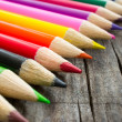 Colorful Wooden Pencil — 图库照片