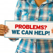 Problems we can help — Stock Photo