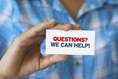 Questions we can help — Stock Photo