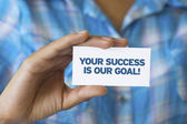 Your success is our goal — Stock Photo