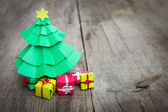 Christmas Tree With Presents — Stok fotoğraf