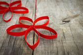 Red Paper Christmas Stars — Stock Photo