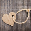 Stock Photo: Paper Heart Tag
