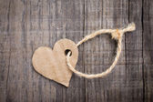 Paper Heart Tag — Stock Photo
