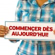 Get Started Today (In French) — Stock Photo #31580781