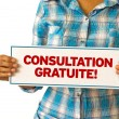 Stock Photo: Free Consultation (In French)