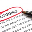 Stock Photo: Blogging Concept