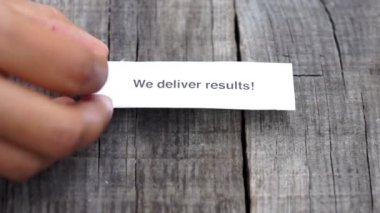 We deliver results — Video Stock